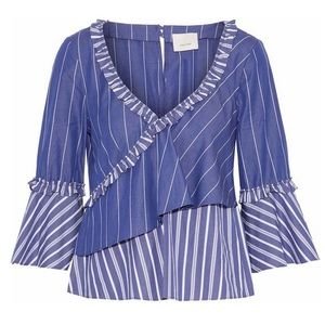 Cinq a Sept ruffled wrap effect top